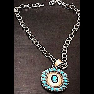 Authentic silver and Turquoise pendant